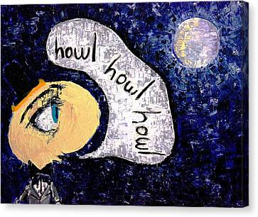 Howling At The Moon  Canvas Print