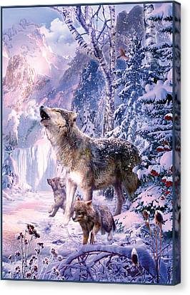 Howling Wolves Canvas Print by Jan Patrik Krasny