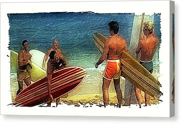 Hows The Surf Canvas Print by Ron Regalado