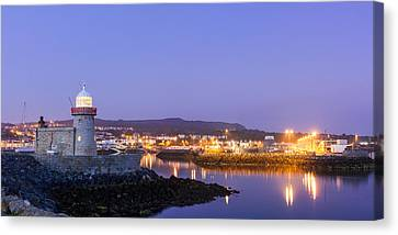 Howth Harbour Lighthouse Canvas Print by Semmick Photo