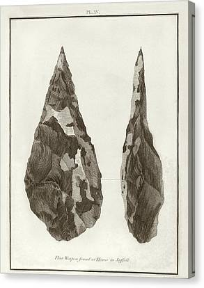 Hoxne Handaxe Canvas Print by Middle Temple Library