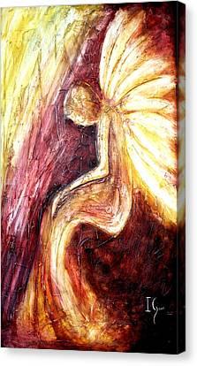Angels Watching Canvas Print - Hoy Manana Y Siempre by Ivan Guaderrama