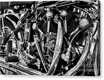 Hrd Vincent Motorcycle Engine Canvas Print