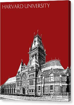 Harvard University - Memorial Hall - Dark Red Canvas Print by DB Artist