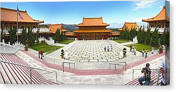 Hsi Lai Temple - 07 Canvas Print by Gregory Dyer