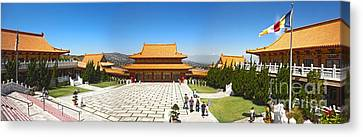 Hsi Lai Temple - 09 Canvas Print by Gregory Dyer
