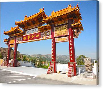 Hsi Lai Temple - 10 Canvas Print by Gregory Dyer