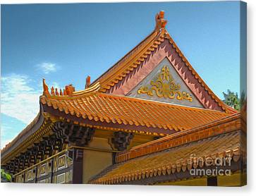 Hsi Lai Temple - 01 Canvas Print by Gregory Dyer