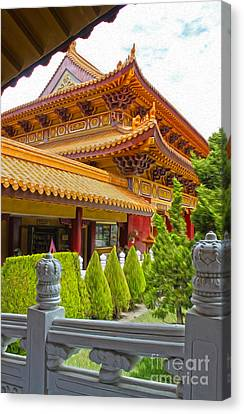 Hsi Lai Temple - 02 Canvas Print by Gregory Dyer