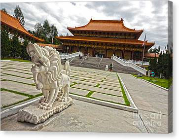 Hsi Lai Temple - 05 Canvas Print by Gregory Dyer