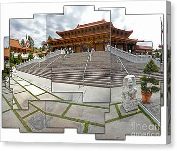 Hsi Lai Temple - 06 Canvas Print by Gregory Dyer