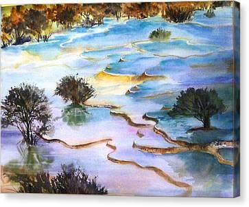 Huanglong Splendour Canvas Print