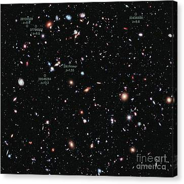 Hubble Extreme Deep Field Xdf Canvas Print by Science Source