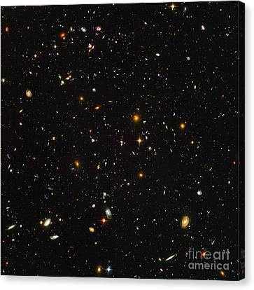 Hubble Ultra Deep Field Galaxies Canvas Print by Science Source