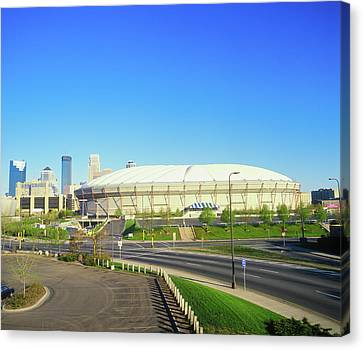 Hubert H. Humphrey Metrodome Canvas Print