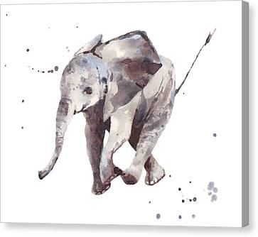 Hubert Hurry Elephant Canvas Print