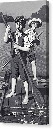 Huckleberry Finn And Tom Sawyer  Canvas Print