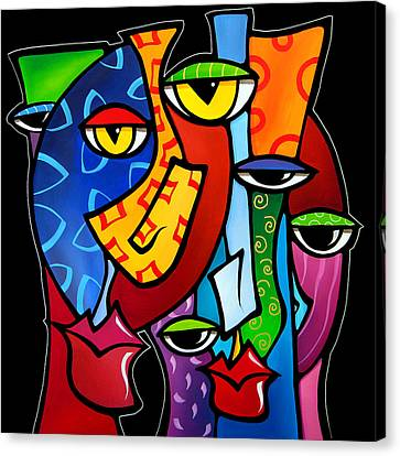 Huddle Up By Fidostudio Canvas Print by Tom Fedro - Fidostudio