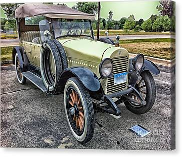 Canvas Print featuring the photograph hudson 1921 phaeton car HDR by Paul Fearn