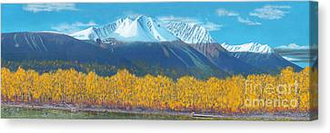 Canvas Print featuring the painting Hudson Bay Mountain by Stanza Widen