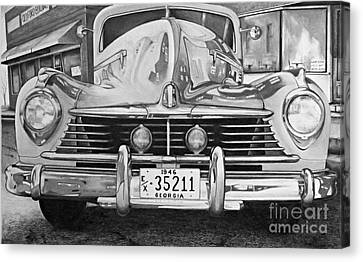 Hudson Dreams In Black And White Canvas Print by David Neace