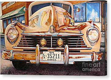 Hudson Has A Surrealistic Moment Canvas Print by David Neace