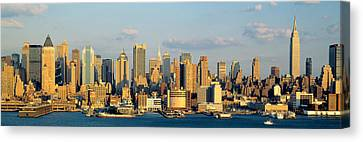 Hudson River, City Skyline, Nyc, New Canvas Print by Panoramic Images