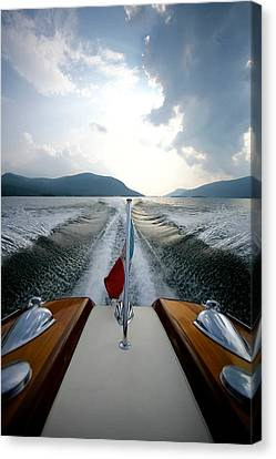 Hudson River Riva Canvas Print by Steven Lapkin