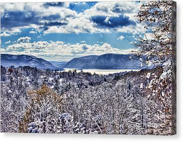 Hudson Valley First Snow Mystic Colors Canvas Print