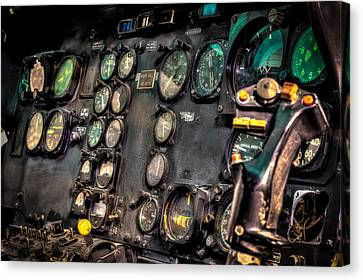 Huey Instrument Panel Canvas Print