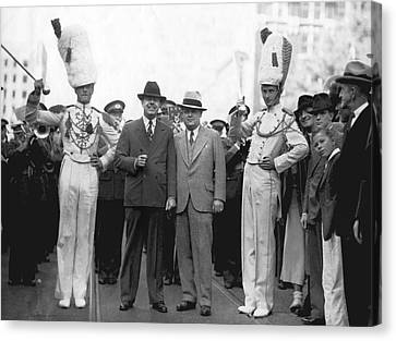 Huey Long And Governor Conner Canvas Print
