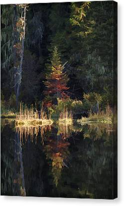 Huff Lake Reflection Canvas Print