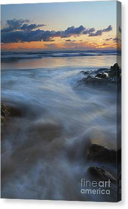 Hug Point Surge Canvas Print by Mike Dawson