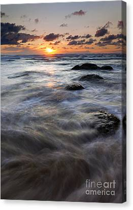 Hug Point Tides Swirl Canvas Print by Mike  Dawson