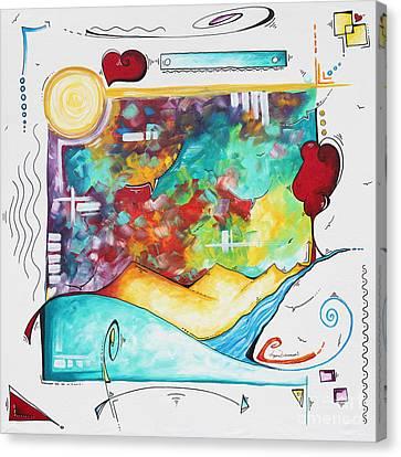 Huge Original Pop Art Style Painting Unique Fun Colorful Art By Megan Duncanson Canvas Print