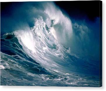 Huge Rogue Ocean Wave Canvas Print by Elaine Plesser