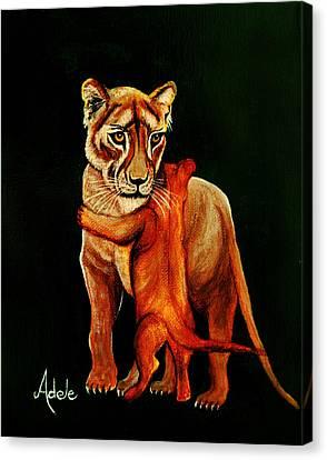 Hugs Canvas Print by Adele Moscaritolo