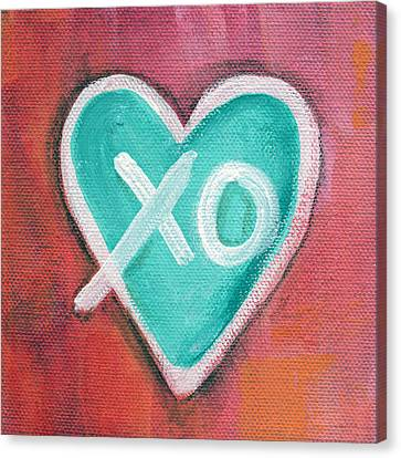 Hugs And Kisses Heart Canvas Print by Linda Woods