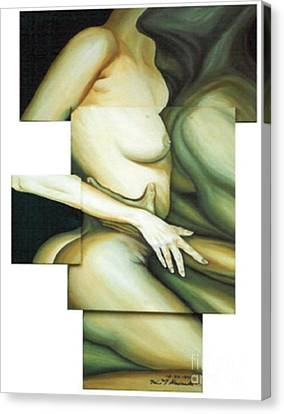Canvas Print featuring the painting Hug_sold by Fei A