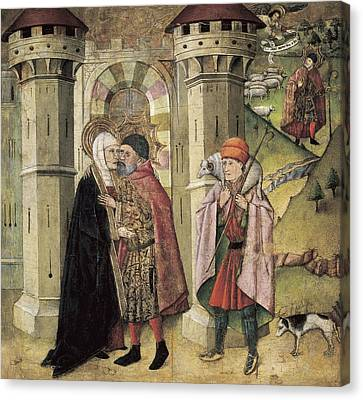 Huguet, Jaume 1415-1492. Saint Joachim Canvas Print by Everett