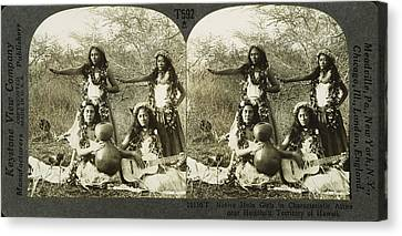 Hula Dancers, C1905 Canvas Print by Granger