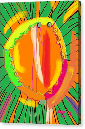 Hula Hoop Canvas Print by Anita Dale Livaditis