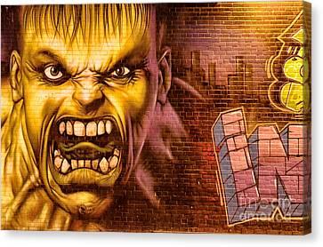 Hulk Graffiti In The Bronx New York City Canvas Print by Sabine Jacobs