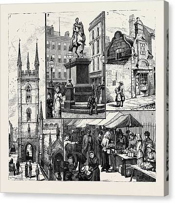 Old Home Place Canvas Print - Hull 1. St. Marys Church 2. Statue Of King William by English School