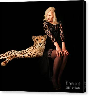 Canvas Print featuring the photograph Human And Animal by Christine Sponchia