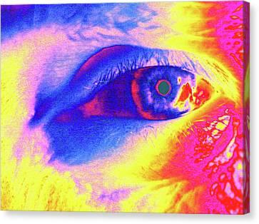 Normal Canvas Print - Human Eye by Larry Berman