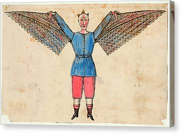 Human Ornithopter Canvas Print by Library Of Congress