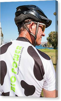 Human Powered Cycling Top Canvas Print by Ashley Cooper