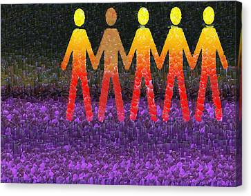 Human Race 2 Canvas Print