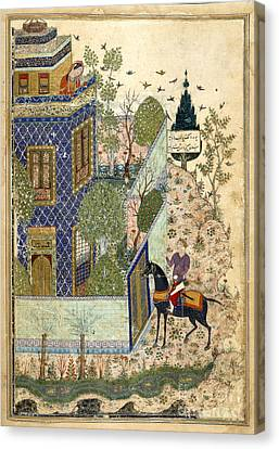 Baghdad Canvas Print - Humay At The Gate To The Castle by British Library